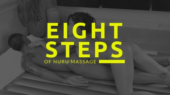 asian masseuse giving man a nuru massage outcall on top of nuru mattress with nuru gel in London